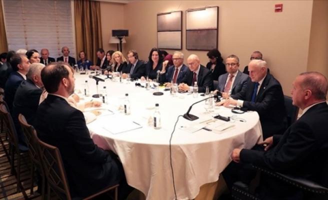Cumhurbaşkan Erdoğan, ABD'de Yahudi Kuruluş Temsilcileriyle Buluştu