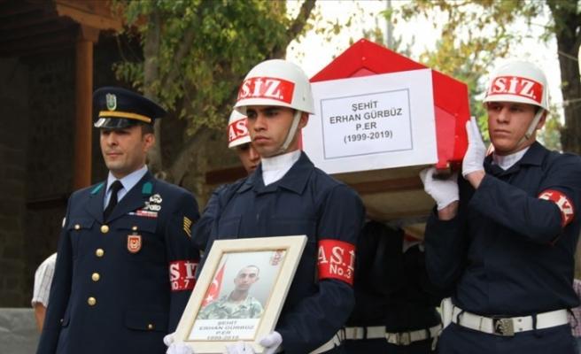 Şehit Asker Erhan Gürbüz Kayseri'de Toprağa Verildi