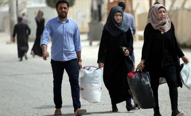 Tel Abyad İlçe Merkezinden Ayrılan Siviller Evlerine Dönmeye Başladı