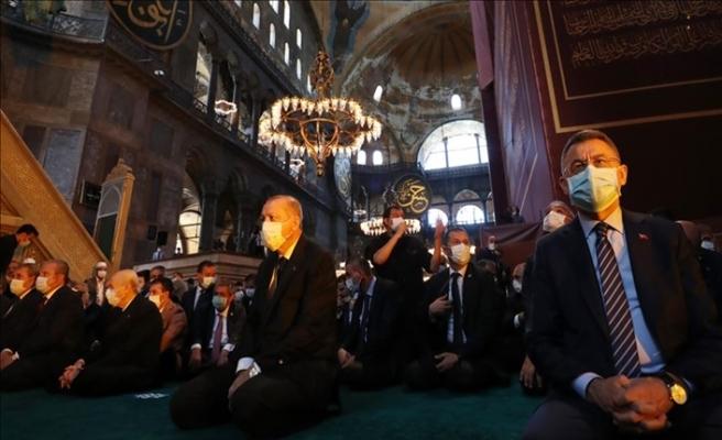Cumhurbaşkanı Recep Tayyip Erdoğan: Ayasofya-İ Kebir Cami-İ Şerif'inde Kur'an-I Kerim Okudu