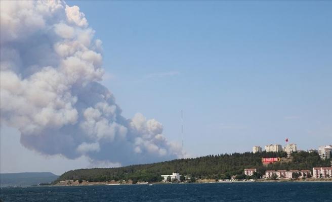 Tarihi Gelibolu Yarımadası'nda Orman Yangını Çıktı