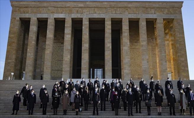 Milli Eğitim Bakanı Ziya Selçuk: 81 İlden Gelen Öğretmenlerle Anıtkabir'i Ziyaret Etti