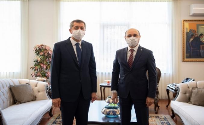 Genel Başkan Geylan, Milli Eğitim Bakanı Sayın Ziya Selçuk'u Ziyaret Etti