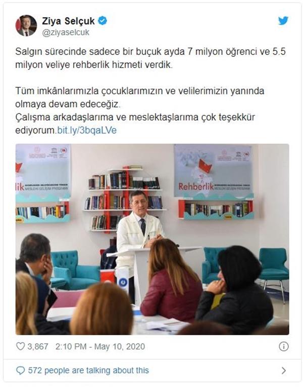MEB, 7 Milyon Öğrenciye Rehberlik Hizmeti Verdi